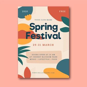 Plakat festiwalu wiosennego