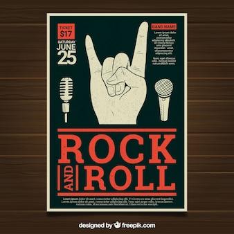 Plakat festiwalu z ręki i mikrofonów