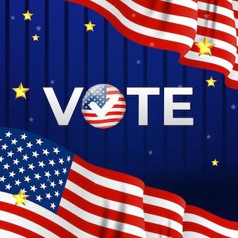 Plakat firmy wyborczej w usa. ilustracja wektorowa eps10