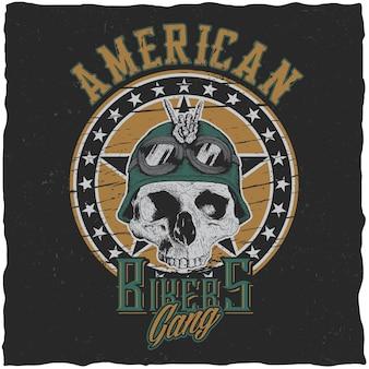 Plakat gangu amerykańskich motocyklistów