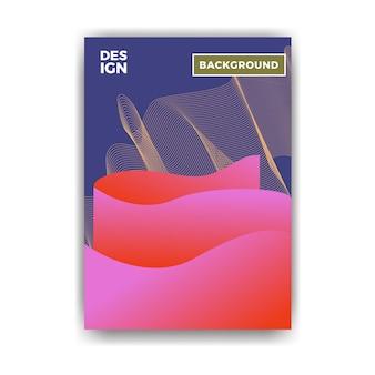 Plakat geometryczny abstrakcyjny wzór