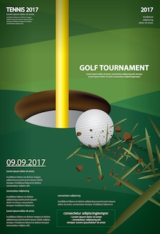 Plakat golf mistrzostwa wektorowego ilustracja