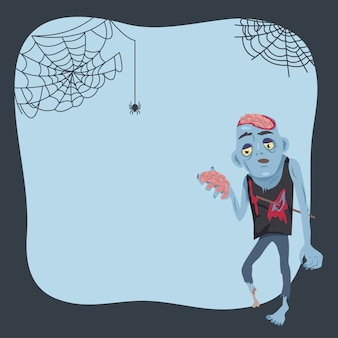 Plakat halloween i zombie
