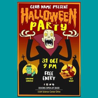Plakat halloween party