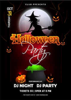 Plakat halloween party