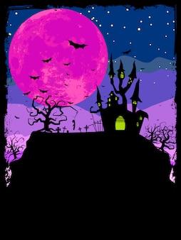 Plakat halloween.