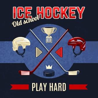Plakat hokeja na lodzie