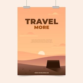 Plakat ilustrowany koncepcja podróży
