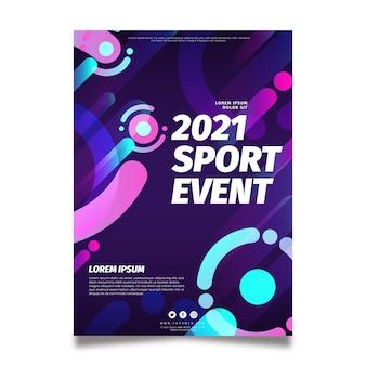 Plakat imprezy sportowej