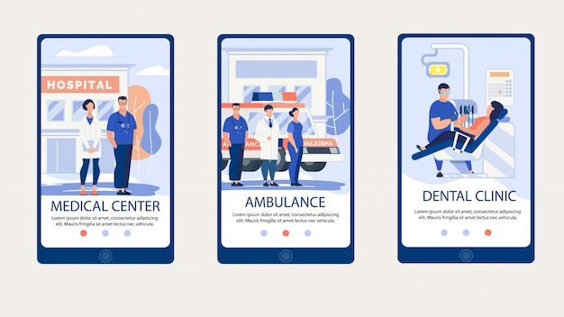 Plakat informacyjny napis medical center.