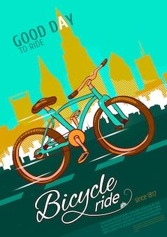 Plakat jazdy na rowerze