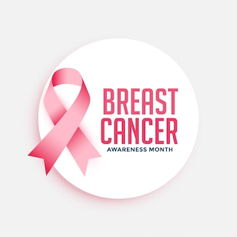 Plakat kampanii miesiąca świadomości raka piersi