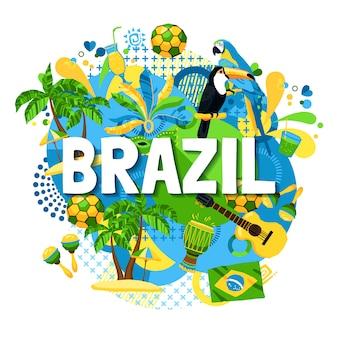 Plakat karnawałowy w brazylii