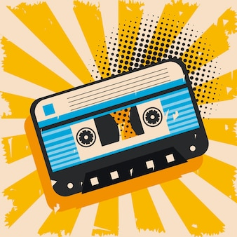 Plakat kasetowy pop-art