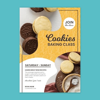 Plakat klasy pieczenia ciastek