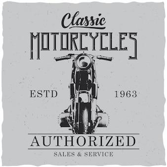 Plakat klasycznych motocykli