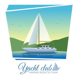 Plakat klubu jachtów