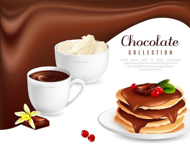 Plakat kolekcja czekolady