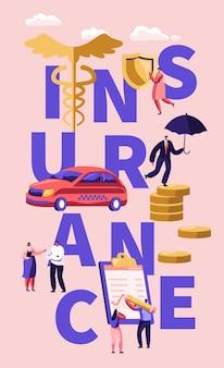 Plakat koncepcji ubezpieczenia