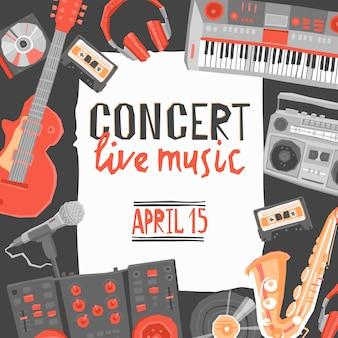 Plakat koncertowy muzyki