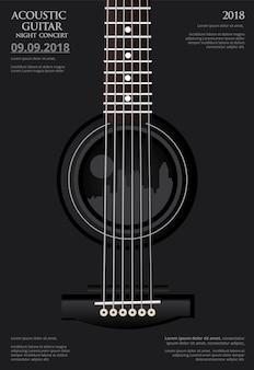 Plakat koncertowy na gitarze
