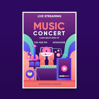Plakat koncertowy z muzyką na żywo
