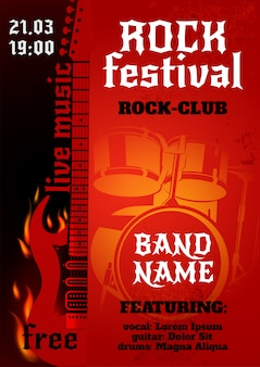Plakat koncertu rockowego