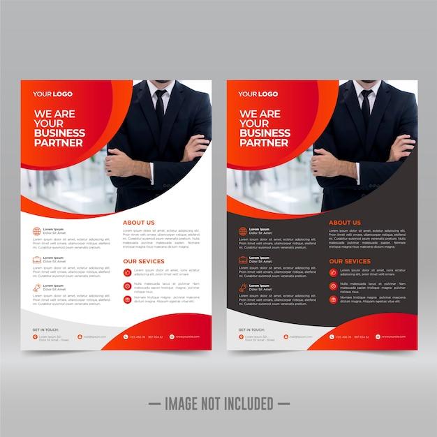 Plakat korporacyjny, szablon projektu ulotki