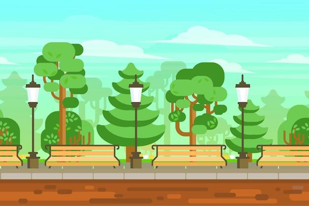 Plakat krajobrazowy ogrodu letniego