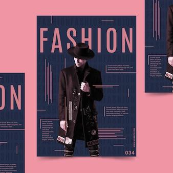 Plakat kreatywny moda ze zdjęciem