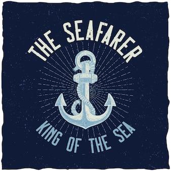 Plakat król morza
