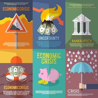 Plakat kryzysu gospodarczego
