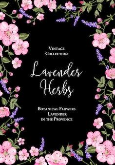 Plakat kwiatów botanicznych.