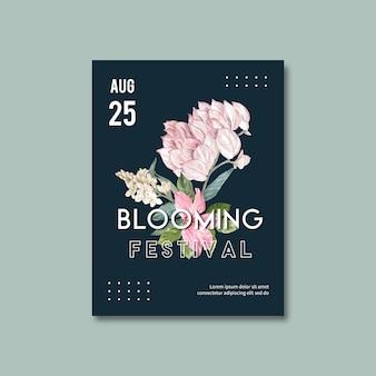 Plakat kwiatowy