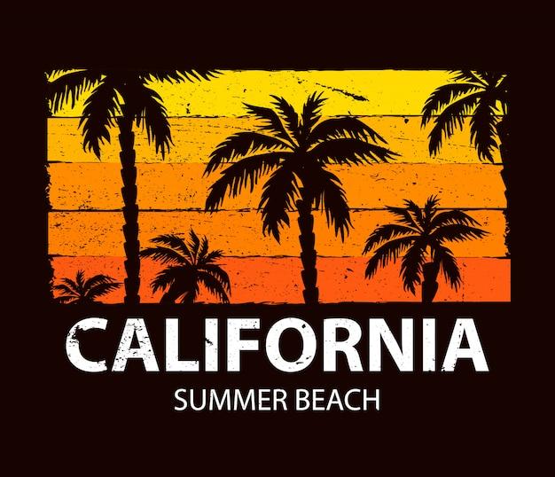 Plakat lato plaża w kalifornii