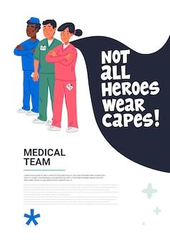 Plakat lekarza bohatera