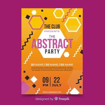 Plakat letni festiwal kształtów geometrycznych