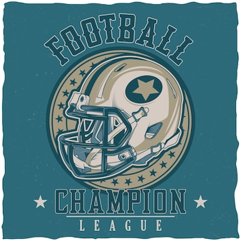 Plakat ligi mistrzów futbolu amerykańskiego