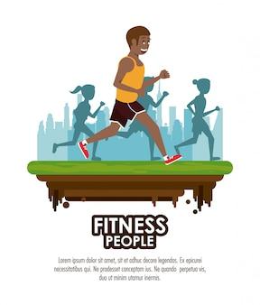 Plakat ludzie fitness