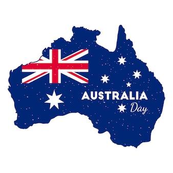 Plakat mapy australii