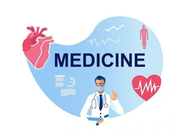 Plakat medyczny, opieki zdrowotnej i ochrony serca