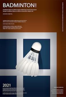 Plakat mistrzostw badmintona