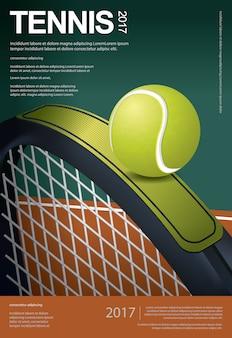 Plakat mistrzostw tenisa