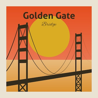 Plakat mostu golden gate