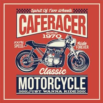 Plakat motocyklowy caferacer