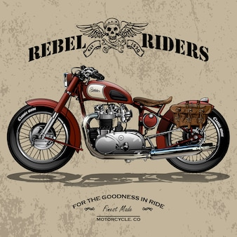 Plakat motocyklowy Chopper