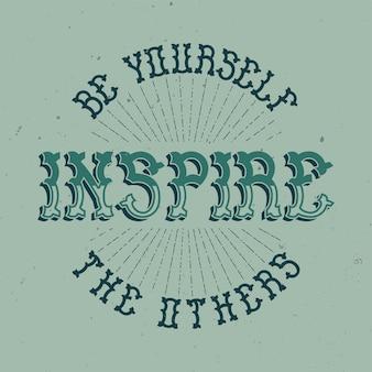 Plakat motywacyjny. inspirujący projekt cytatu.