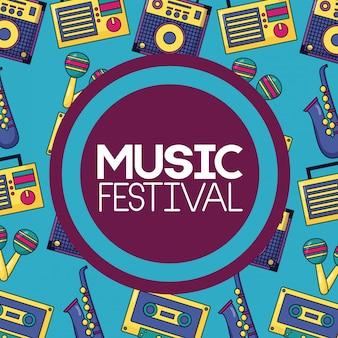Plakat muzyczny festiwalu