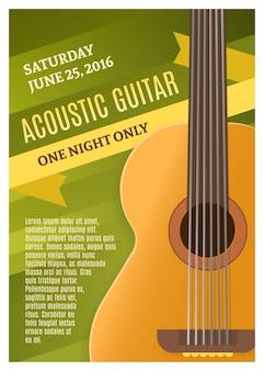 Plakat muzyki gitarowej