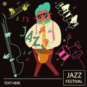 Plakat muzyki jazzowej